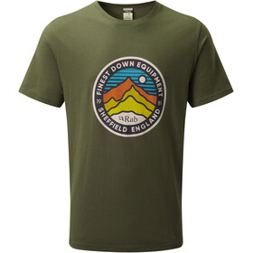 Rab Stance 3 Peaks T-shirt Heren, army